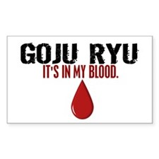 In My Blood (Goju Ryu) Rectangle Decal