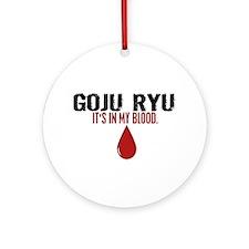 In My Blood (Goju Ryu) Ornament (Round)