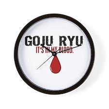 In My Blood (Goju Ryu) Wall Clock