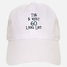 60th birthday, 60 looks like this Baseball Baseball Cap