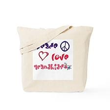 Peace, Love and Grandkids Tote Bag