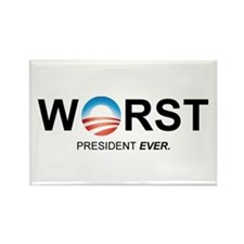 Worst President Ever (Design 1) Magnets