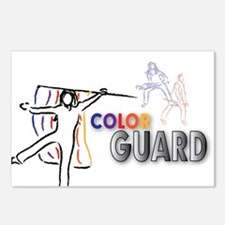 Cute Color guard flag Postcards (Package of 8)