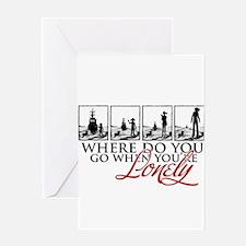 Where do you go? - Greeting Card