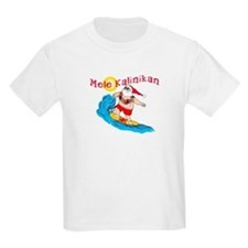 Hawaiian Christmas Surfing Santa T-shirt T-Shirt