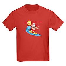 Hawaiian Christmas Surfing Santa T-shirt T