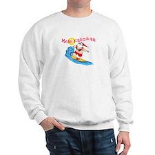 Hawaiian Christmas Surfing Santa T-shirt Sweatshir