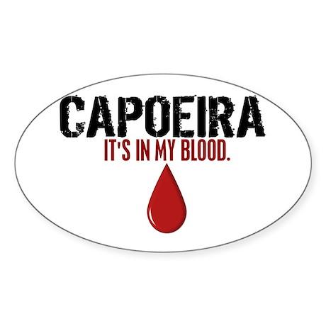 In My Blood (Capoeira) Oval Sticker