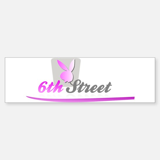 6th Street Bunny Bumper Bumper Bumper Sticker