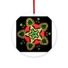 Holiday Star Kaleidoscope Ornament (Round)