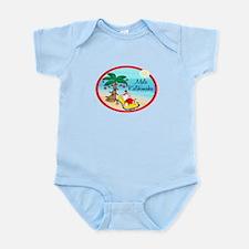 Hawaiian Christmas Lazy Santa Infant Bodysuit