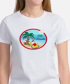 Hawaiian Christmas Lazy Santa Women's T-Shirt