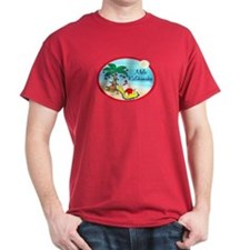Hawaiian Christmas Lazy Santa T-Shirt