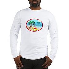 Hawaiian Christmas Lazy Santa Long Sleeve T-Shirt