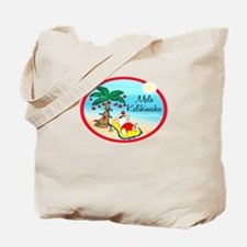 Hawaiian Christmas Lazy Santa Tote Bag