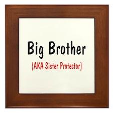 Big Brother (AKA Sister Protector) Framed Tile