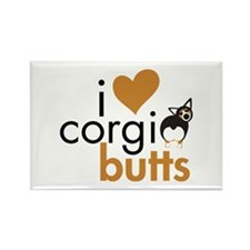 I Heart Corgi Butts - BHT Rectangle Magnet