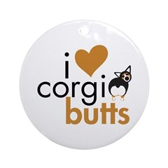 I Heart Corgi Butts - BHT Ornament (Round)