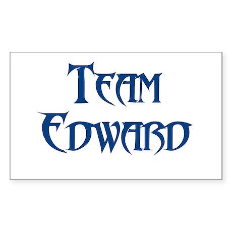TEAM EDWARD SHIRT MY HEART BE Rectangle Sticker