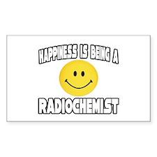 """Happiness...Radiochemist"" Rectangle Decal"