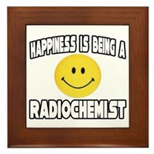 """Happiness...Radiochemist"" Framed Tile"