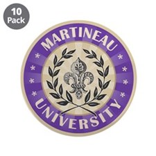 "Martineau Last Name University 3.5"" Button (10 pac"