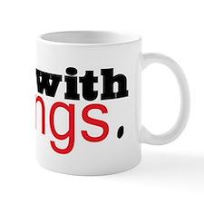 Twilight I'm with Fangs Mug