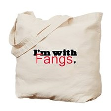 Twilight I'm with Fangs Tote Bag
