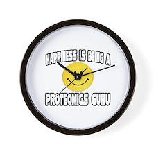 """""""Happiness...Proteomics Guru"""" Wall Clock"""