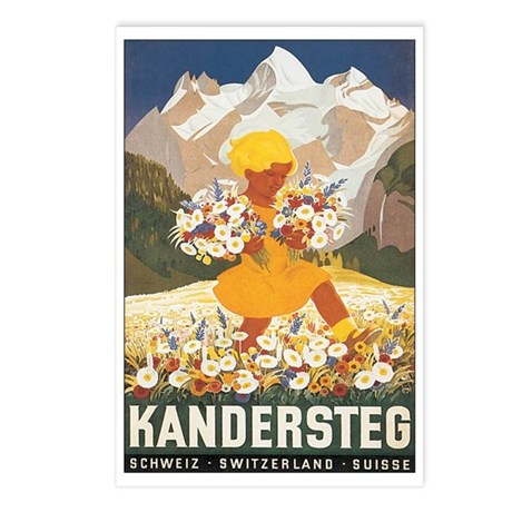 Kandersteg Switzerland Postcards (Package of 8)