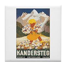 Kandersteg Switzerland Tile Coaster