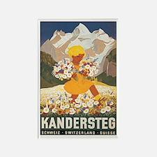 Kandersteg Switzerland Rectangle Magnet