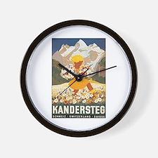 Kandersteg Switzerland Wall Clock
