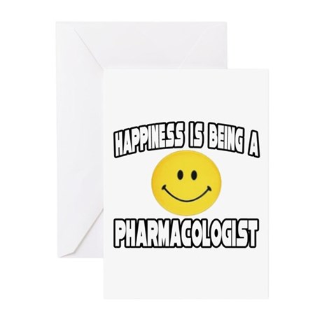 """Happiness...Pharmacologist"" Greeting Cards (Pk of"