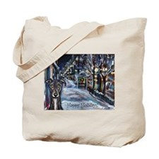 Greyhound Christmas Tote Bag