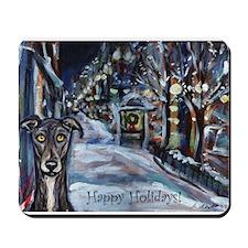 Greyhound Christmas Mousepad