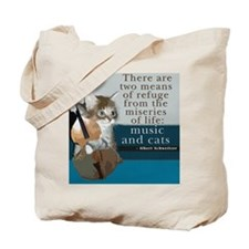 Cats and Music Tote Bag