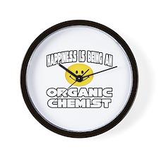 """Happiness..Organic Chemist"" Wall Clock"