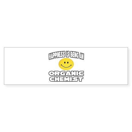 """Happiness..Organic Chemist"" Bumper Sticker"