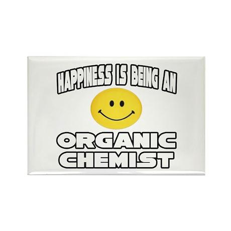 """Happiness..Organic Chemist"" Rectangle Magnet (100"