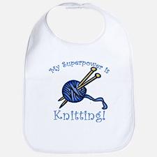 My Superpower is Knitting Bib