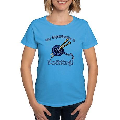 My Superpower is Knitting Women's Dark T-Shirt