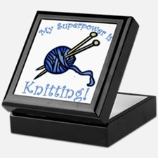 My Superpower is Knitting Keepsake Box