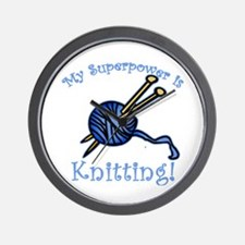 My Superpower is Knitting Wall Clock