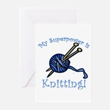 My Superpower is Knitting Greeting Cards (Pk of 10