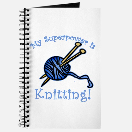 My Superpower is Knitting Journal