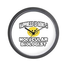 """Happiness..Molecular Biologist"" Wall Clock"