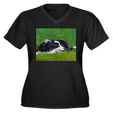 Can't Wait! Women's Plus Size V-Neck Dark T-Shirt