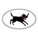 Playful Lab Oval Sticker (10 pk)