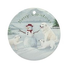 Great Pyrenees Ornament [rd] Snowfun